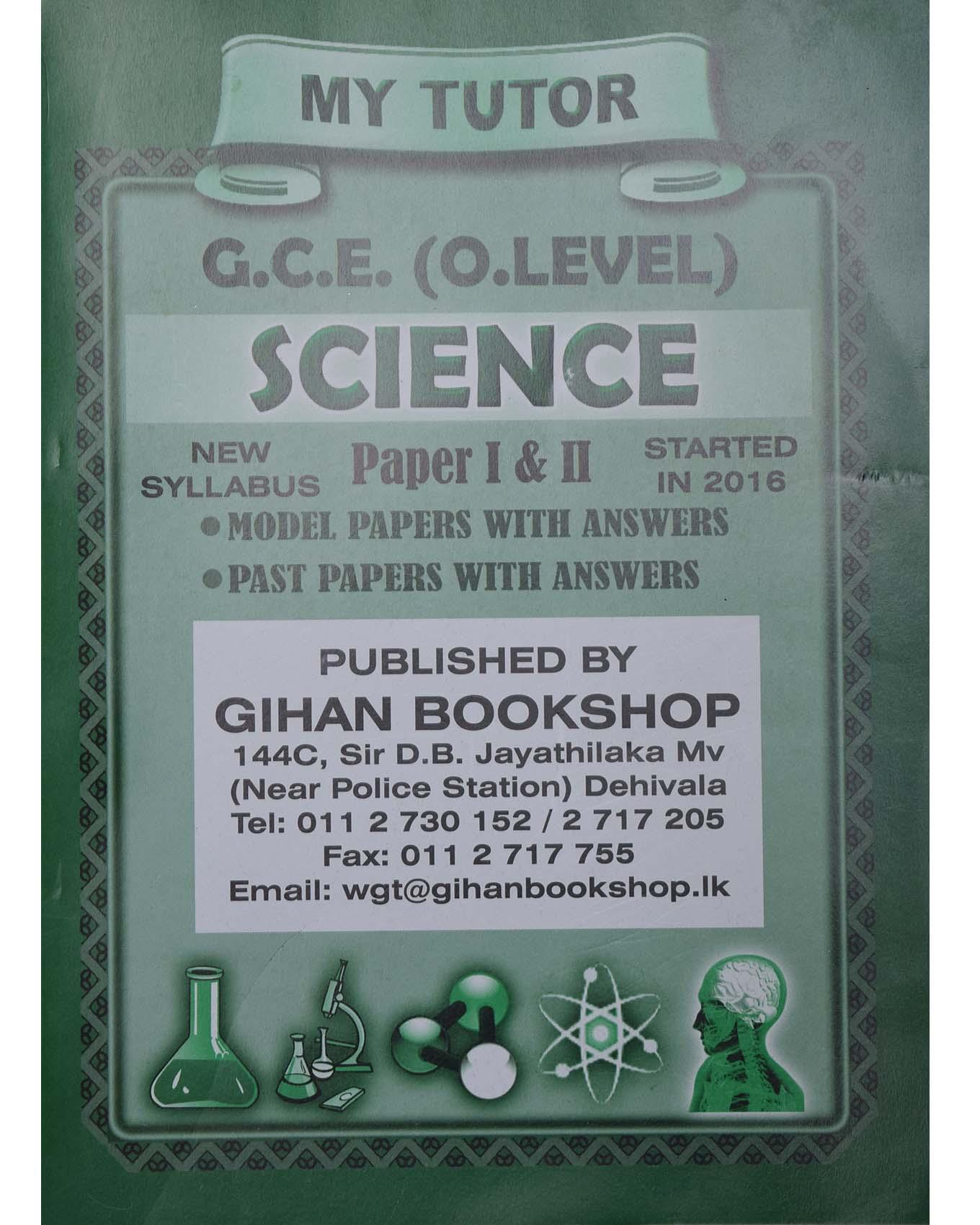 O/L Science Past Papers And Model Papers Book With Answers
