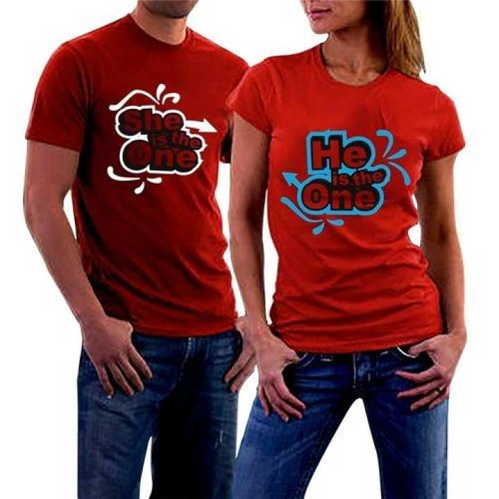 He & She- Red Couple T-shirts