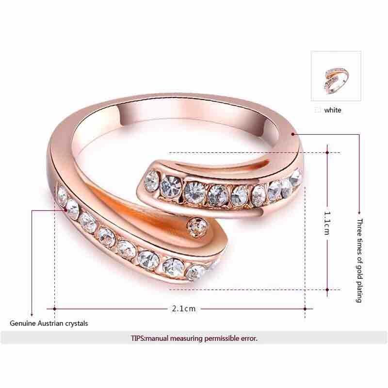 Women's Rose Gold Plated Ring