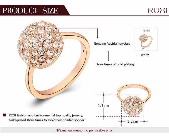 Women's Austrian Crystals Alloy Ring