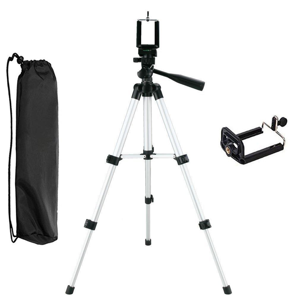 Three-way Head Lightweight Universal Tripod Clip Holder Bracket for Camera, Cell Phones
