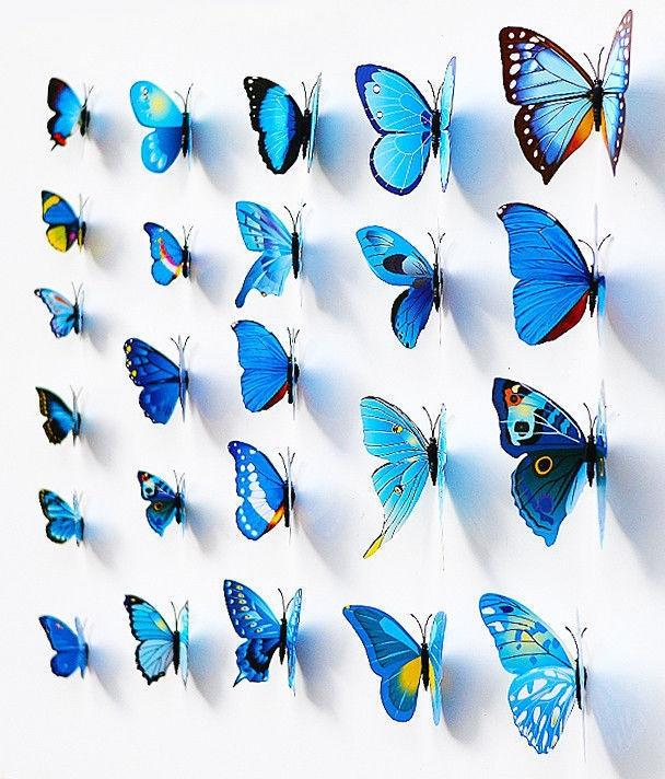 48 Magnet Butterfly Wall Stickers