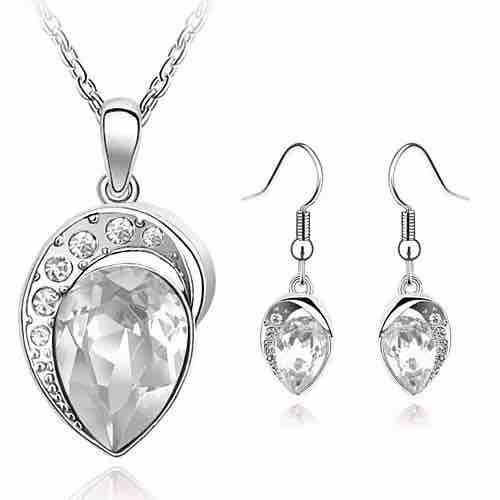 Women's Silver Plated Jewellery Set