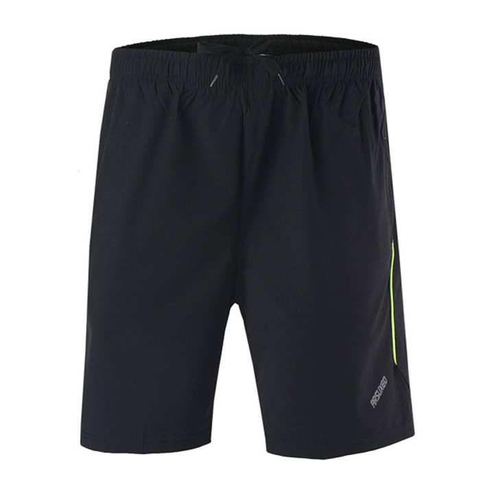 ARSUXEO B163 Sports Running Men's Short Pant - Black + Green (M)