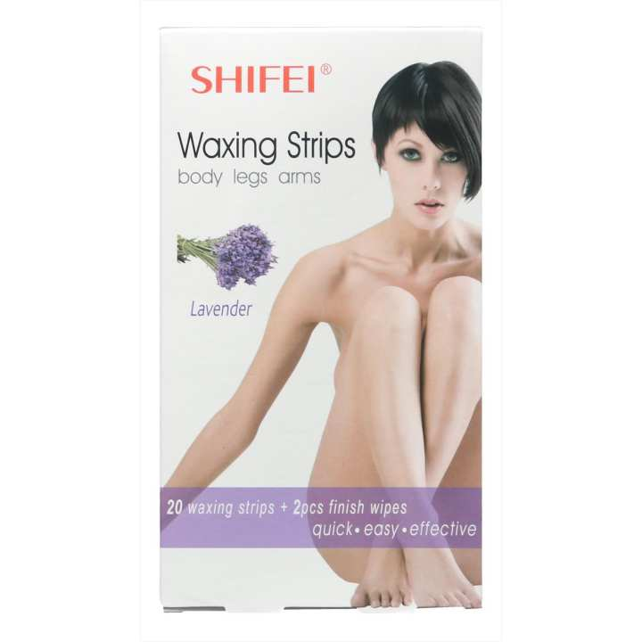 Shifei Waxing Strips Body Legs Arms Lavender