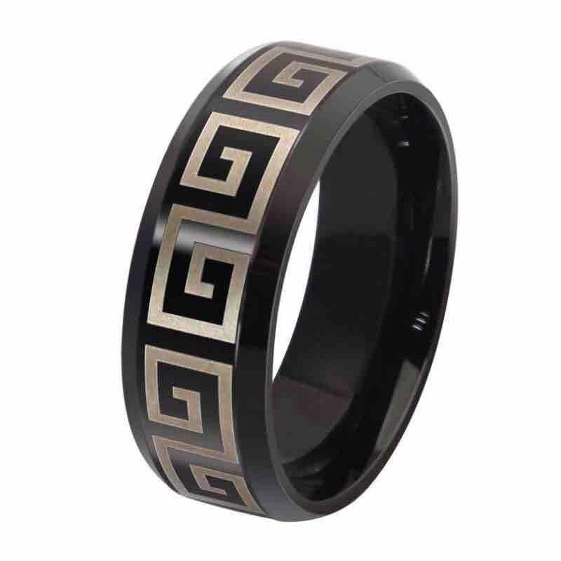 Men's Black Titanium Steel Ring