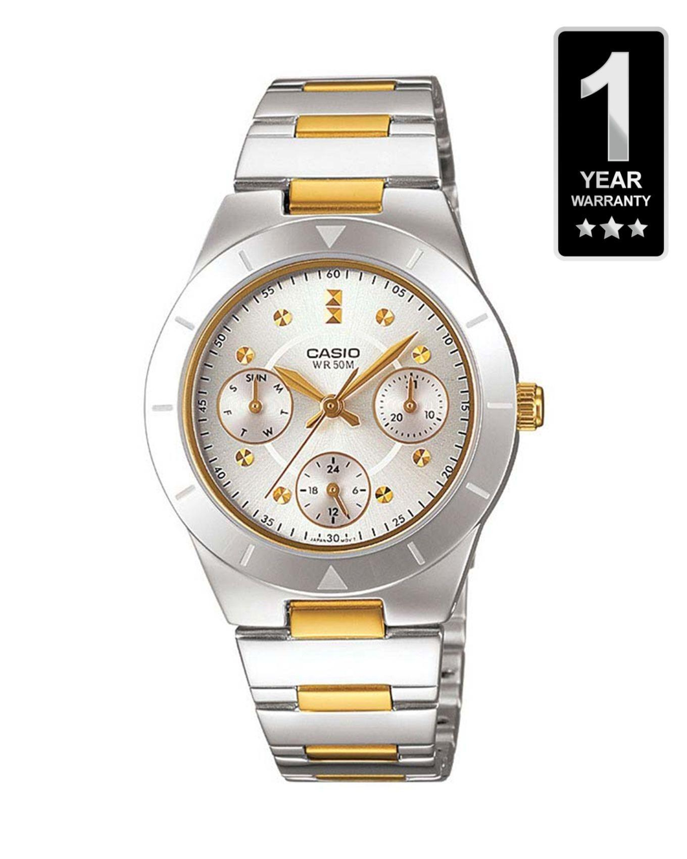 Casio Enticer Silver Metal Analog Watch For Women