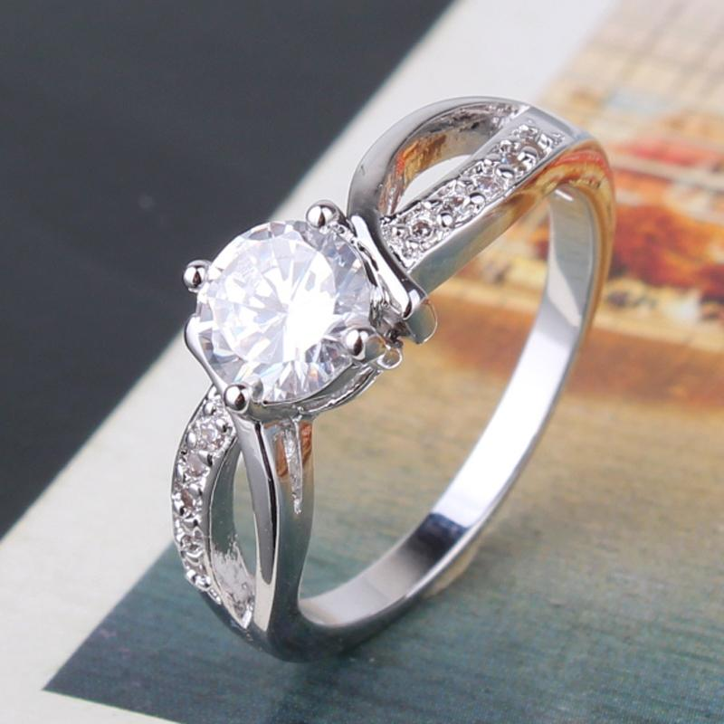Women's Gold Plated Crystal Ring