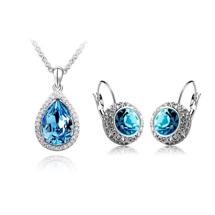Women's Crystal Jewelry Set - Blue