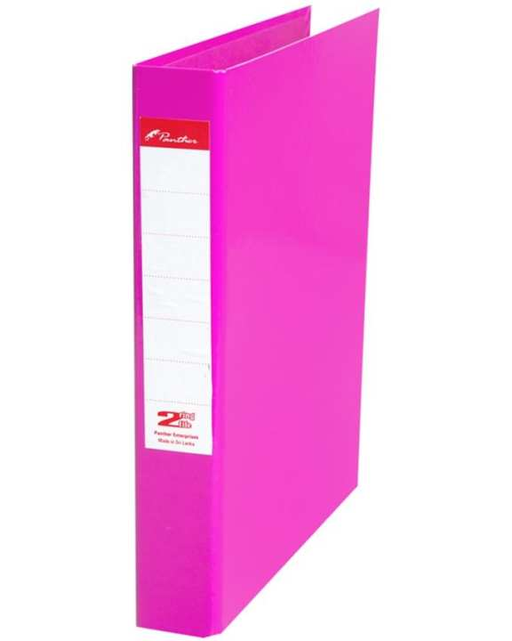 2 Ring Laminated Files  A4 - Pink