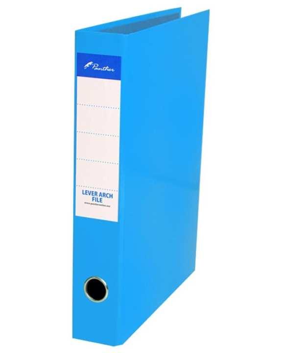 Box Files 50mm  Laminated F4 - Light Blue