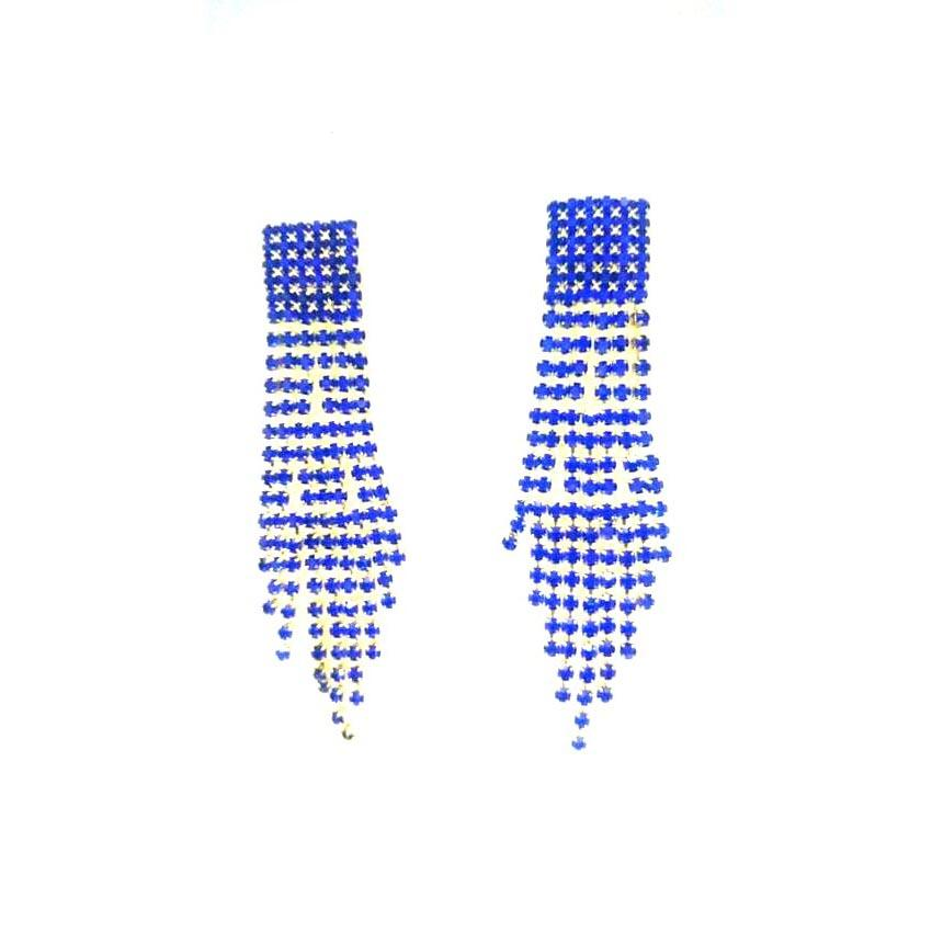 Blue Stoned Earrings For Ladies