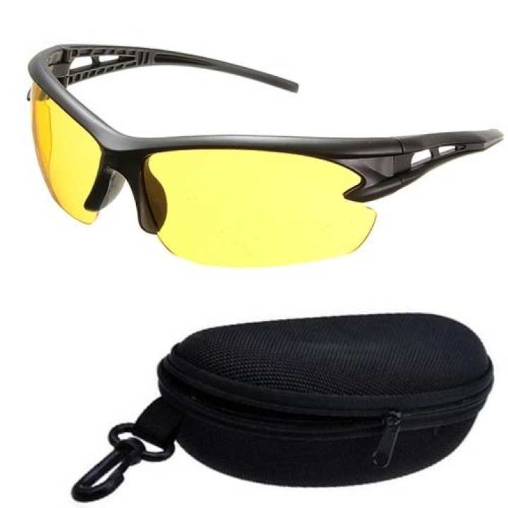 Men's Night Vision Riding Glasses with Box