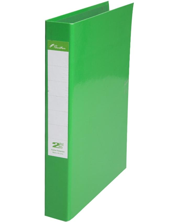 2 Ring Laminated Files  A4 - Light Green