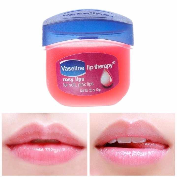 Vaseline Lip Therapy Rosy Lips  Pure Petroleum Jelly Lip Balm 0.25oz
