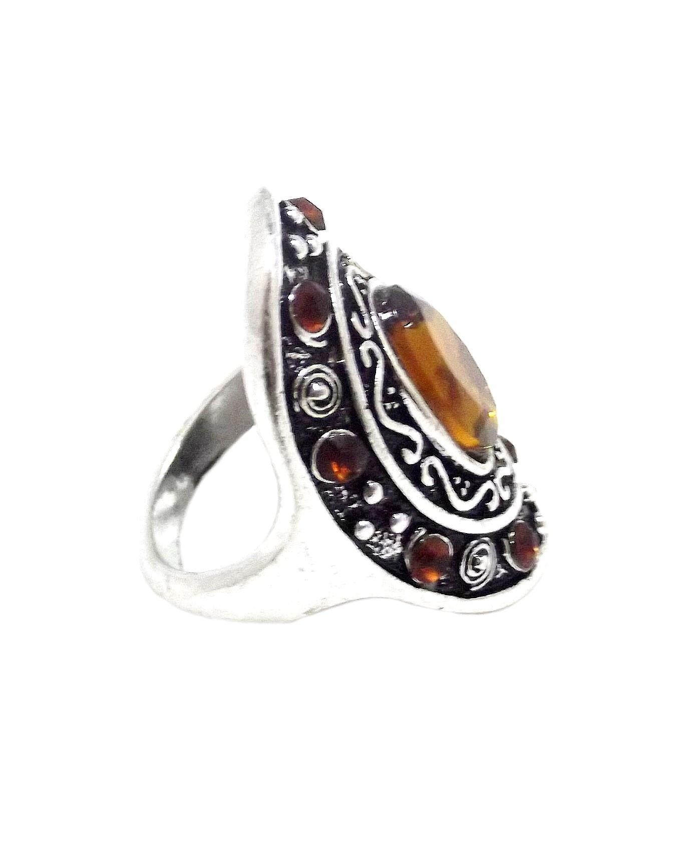 Unisex Vagnor Antique Silver Dress Ring