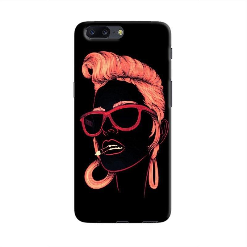 SketchyGirl Hard Case For OnePlus  5
