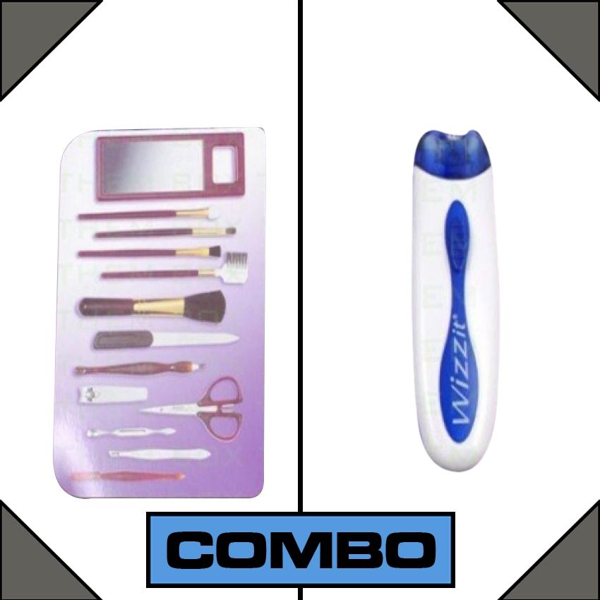 Combo of Wizzit Electric Tweezer Hair Remover + Manicure Set