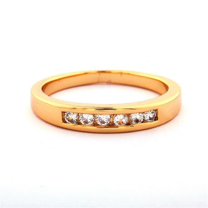 Women's Gold Plated Cubic Zircon Ring