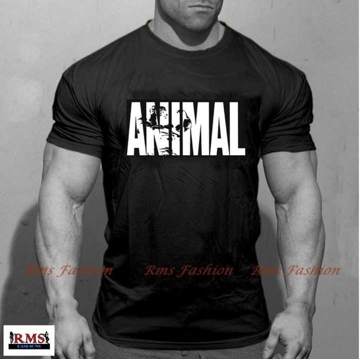 Men's Animal Body-Fit T-shirt -Black