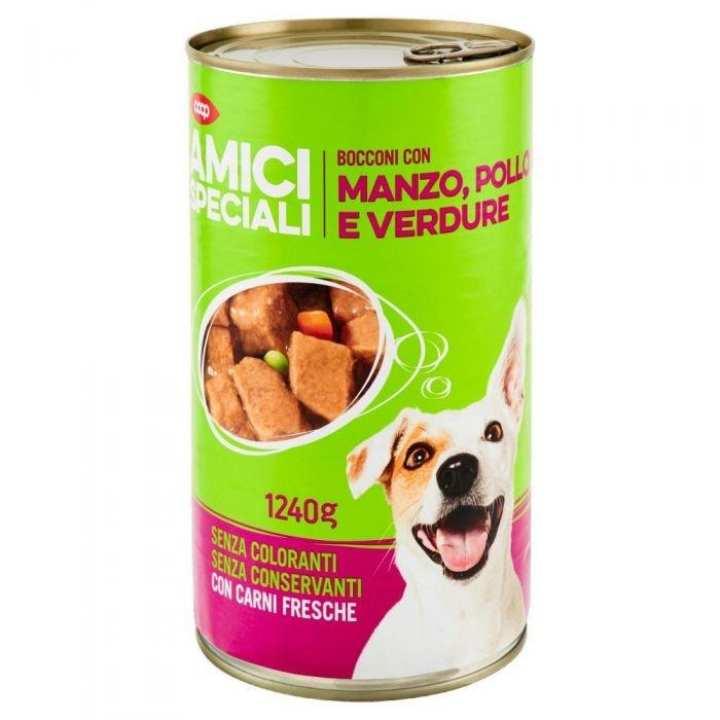 AMICI SPECIALI Bocconi Con Manzo, Pollo E Verdure 1240 G