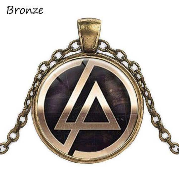 Unisex Round Glass Pendant Necklace