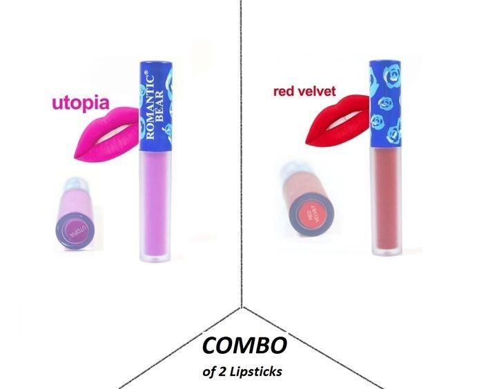 Combo of 2 Matt Velvet Lipsticks