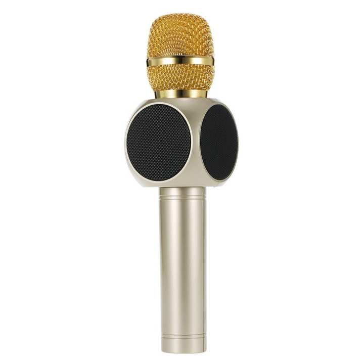 E103 Bluetooth Karaoke Wireless Condenser Microphone - Champagne Gold