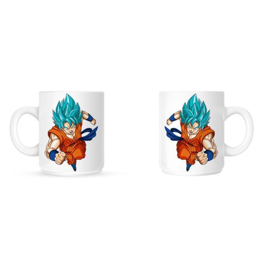 Goku Superhero Ceramic Mug - White