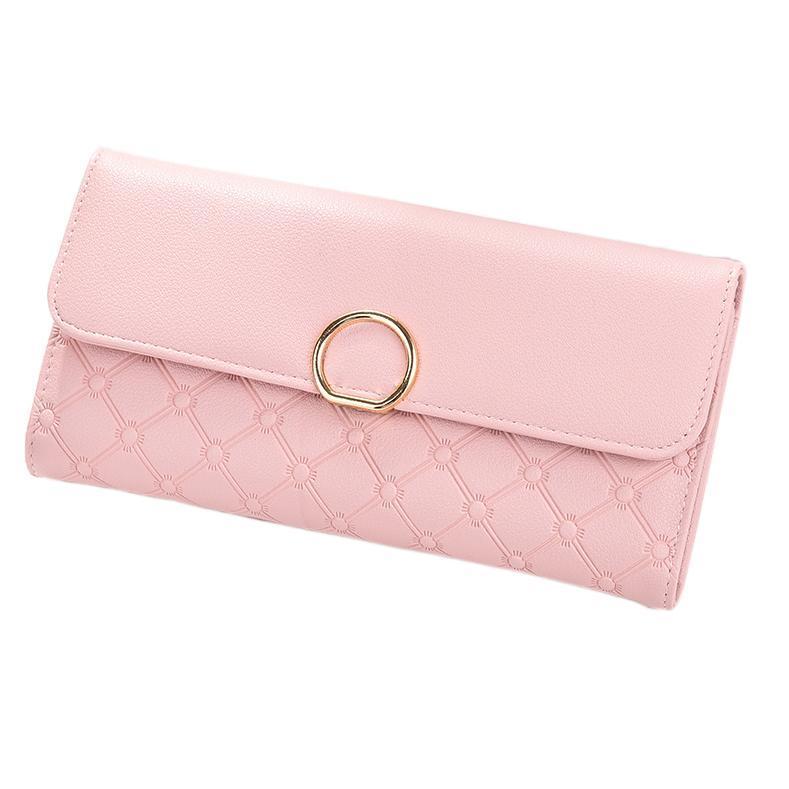 Girl Women Lady PU Leather Clutch Wallet Long Card Holder Purse Wallet