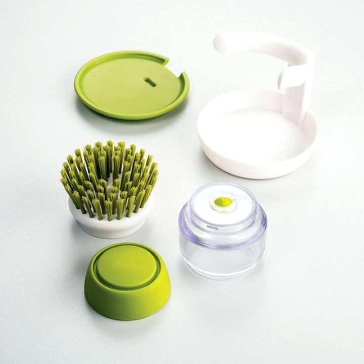 Dishwasher Soap Dispenser and Brush