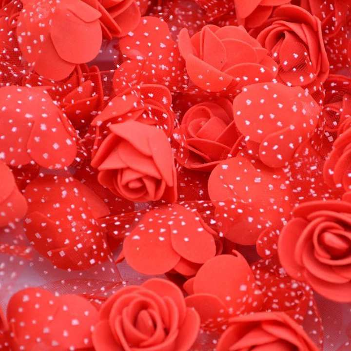 12 Pcs Artificial Rose Flowers For Wedding And Decorations