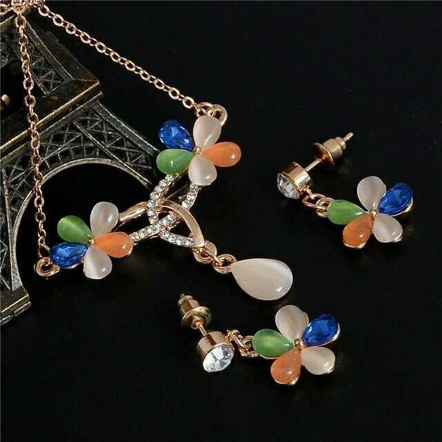 Crystal Pearl Jewelry Set