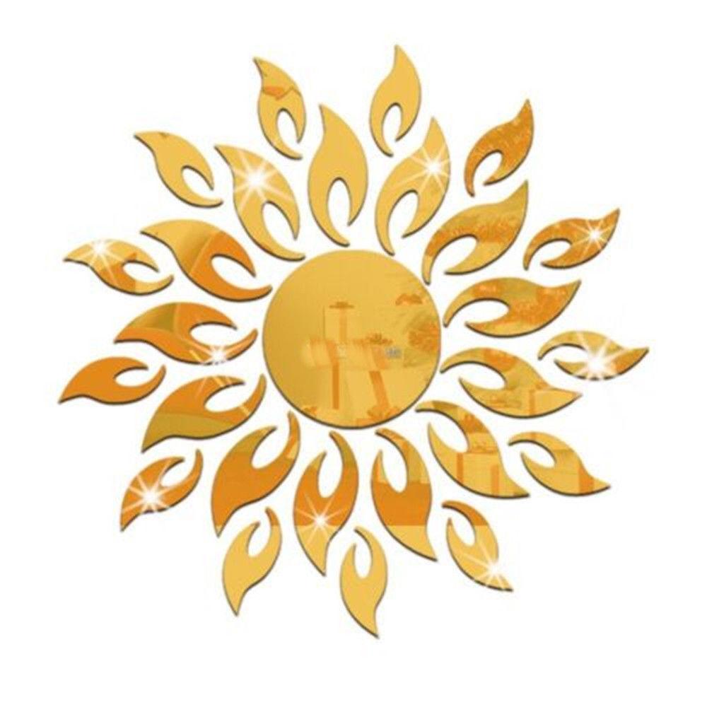 3D Sun Mirror Sticker