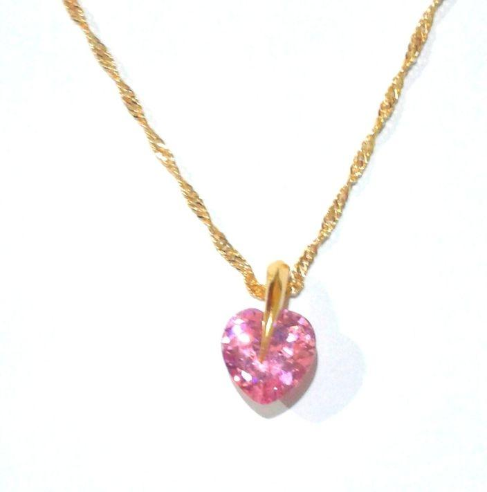 Women's Gold Plated Necklace With Pendant