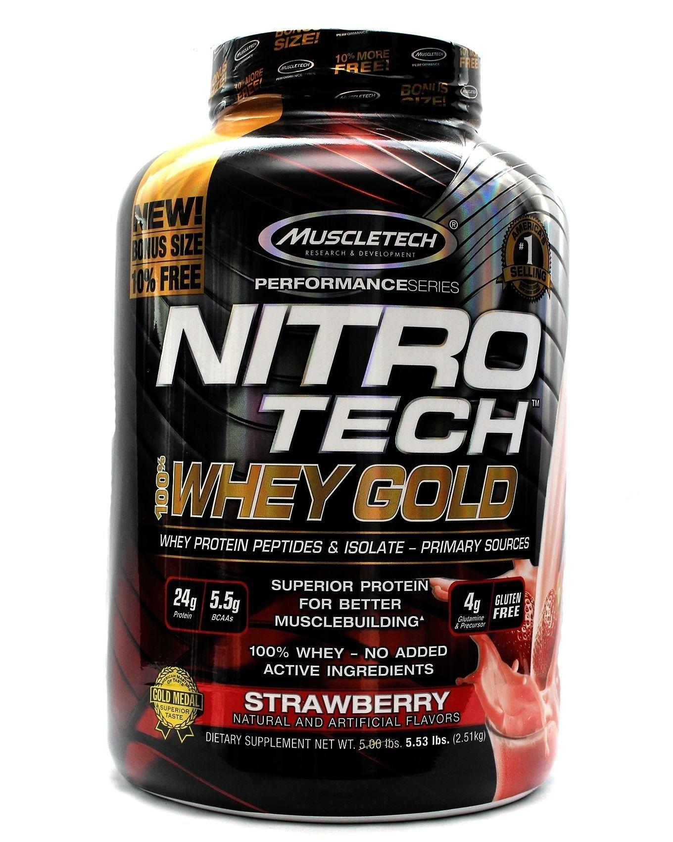 Kingxbardaxmuscletech Buy At Best Price Nitrotech 4 Lbs Strawberry 100 Whey Gold 533lbs