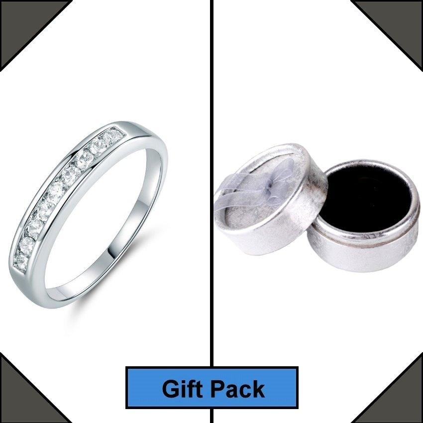Women's White Gold Plated Ring