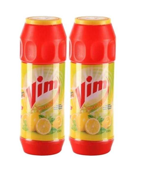 Bundles of 2 Vim Powder With Lemon Fragrance 650g
