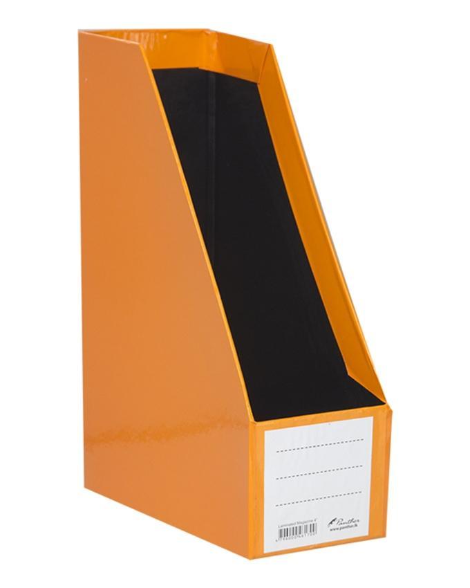 """Magazine Holder Laminated 4"""" - Orange"""