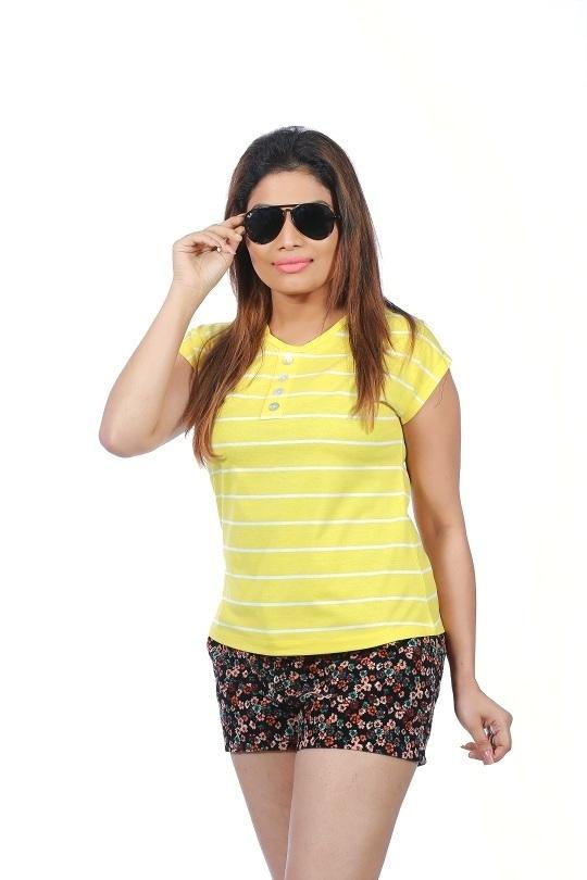 Women's Yellow Stripe T-Shirt