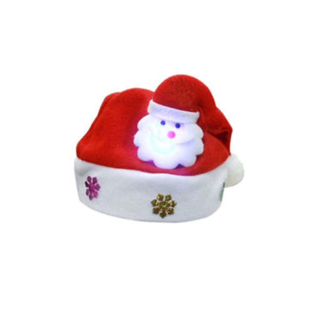 c3782c7433e Product details of Luminous Christmas Hat Cap Santa Claus Elk Snowman Kids  Children Baby Xmas Gifts