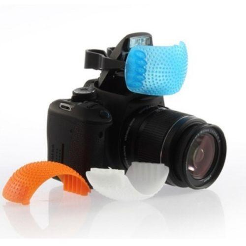 3 Color Pop Up Flash Diffuser Cover for DSLR Camera