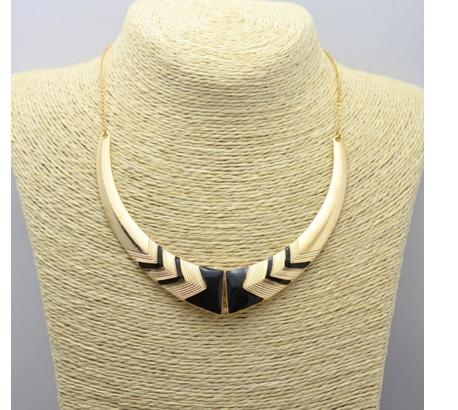 Women's Gold Plated Collar Necklace