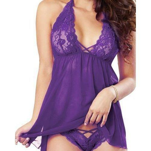 Women Lace Deep V-Neck Nightdresses