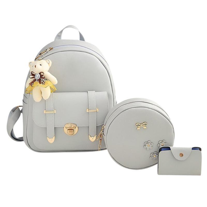 86b96b283831f Ladies Handbags. 3644 items found in Women Bags. 3pcs Set PU Leather Women  Backpack