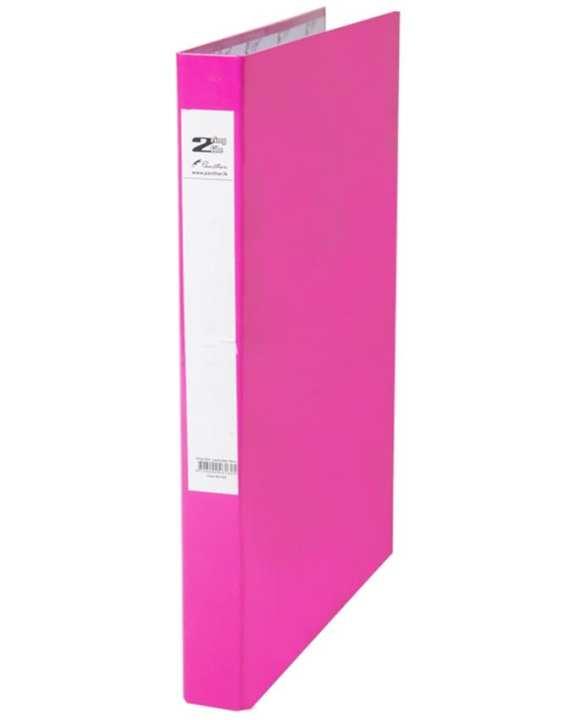 2 Ring Slim Laminated Files 16mm - Pink