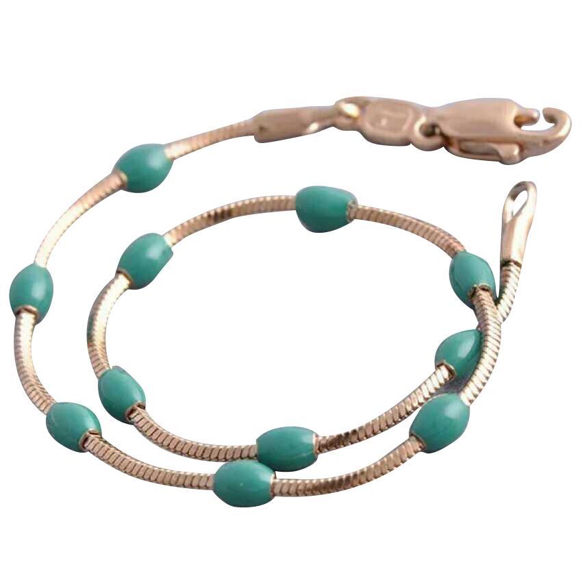 Women's Green Enamel Bracelet