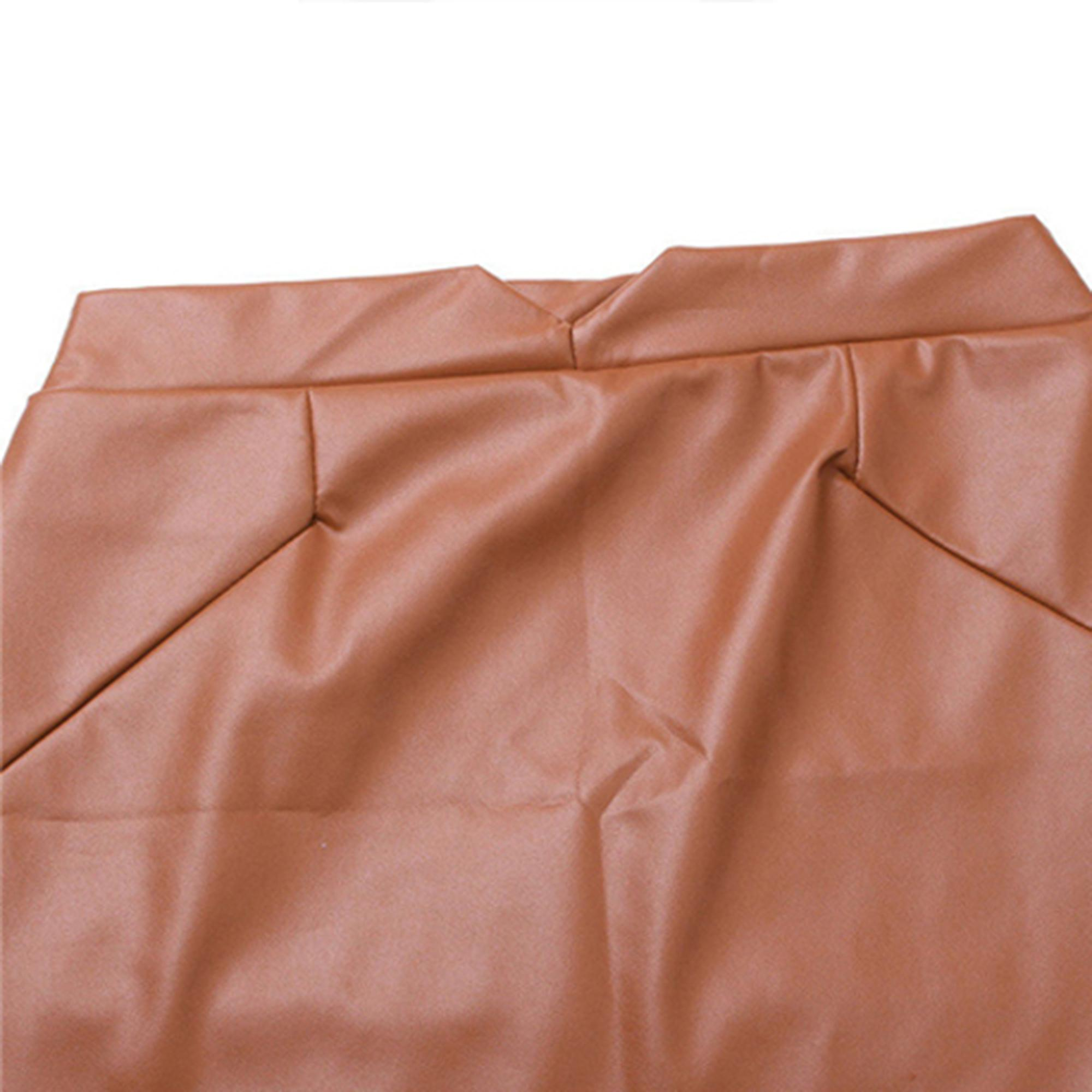 Women's Leather Brown Skirt