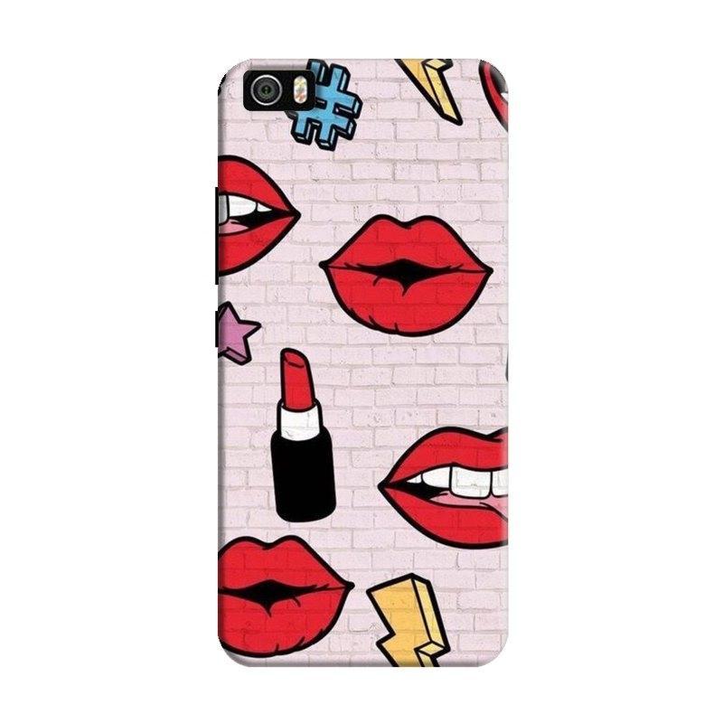 LipstickStickersWall Hard Case For Xiaomi Mi5