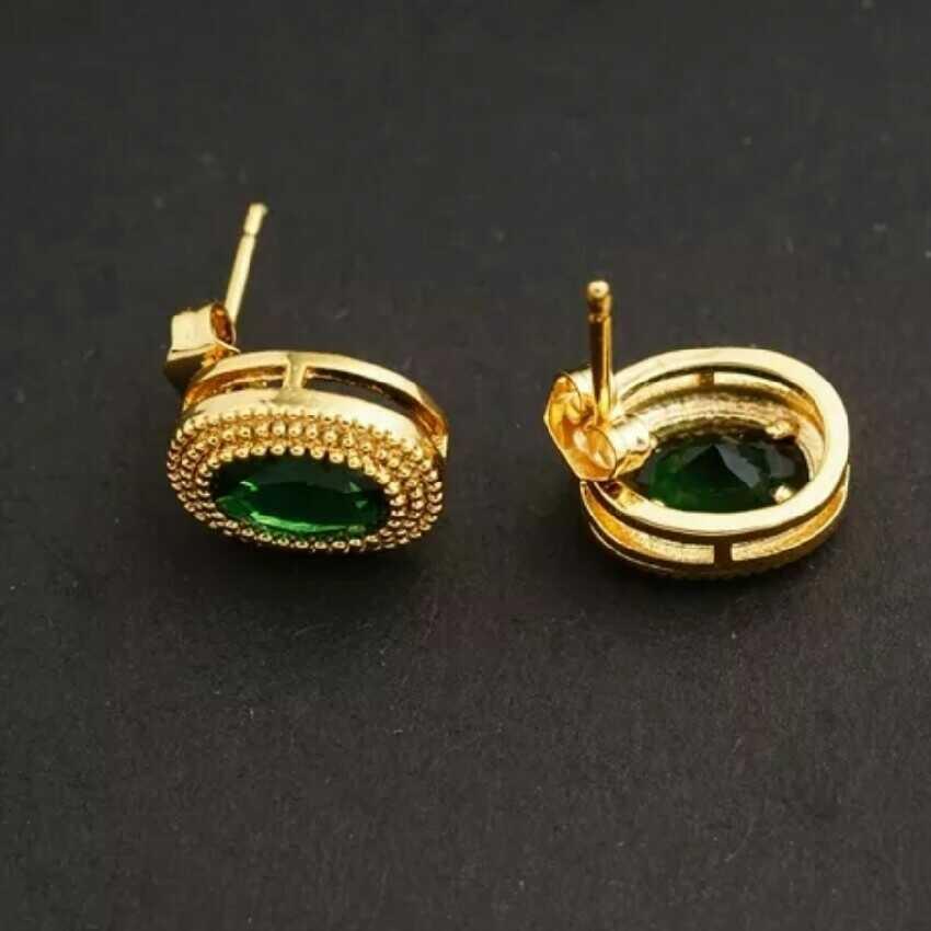 Women's Green Emarald Earrings